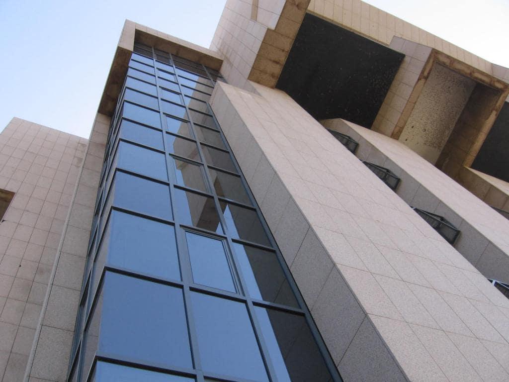 Réhabilitation BEAC direction nationale :Façade Mur Rideau – Menuiseries Alu