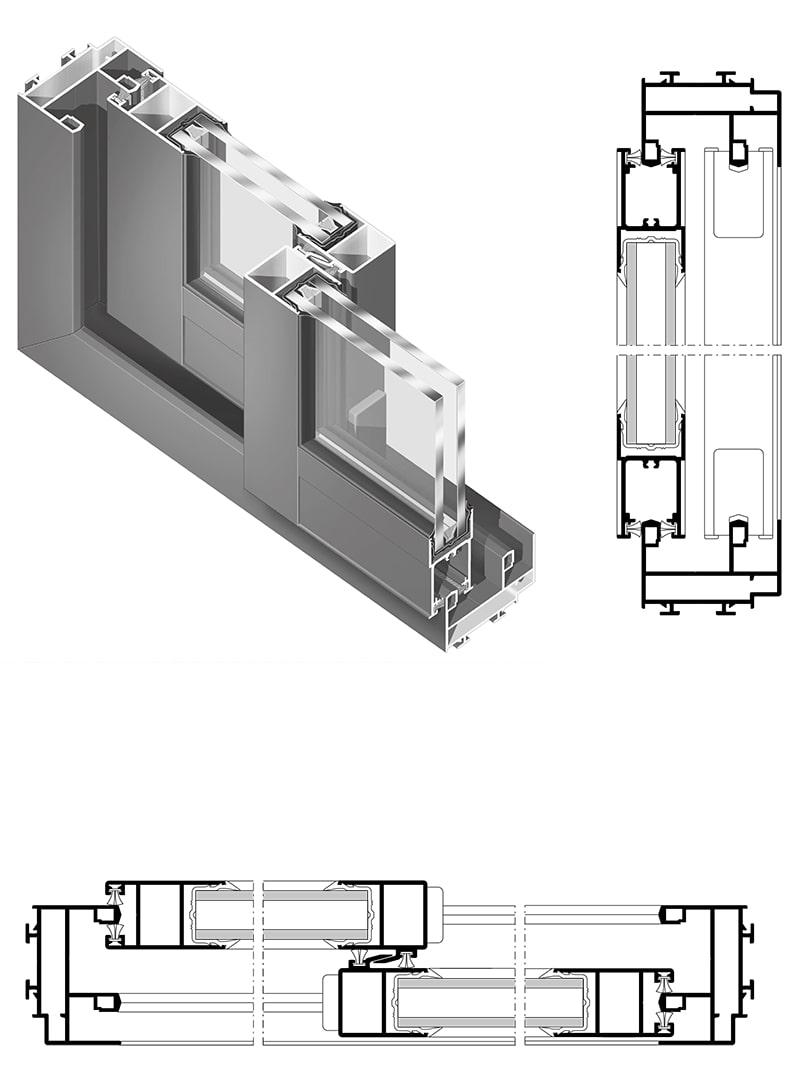 Fenêtres et portes-fenêtres coulissantes